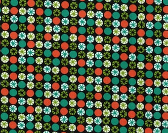 Atomic Orbs Fabric - Retro - by Michael Miller Fabrics (Priced by the half yard and cut continuously)