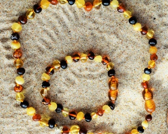 Baltic Amber. Baby Teething Necklace. Baltic amber, Amber bracelet, Amber necklace, Amber teething necklace SETS