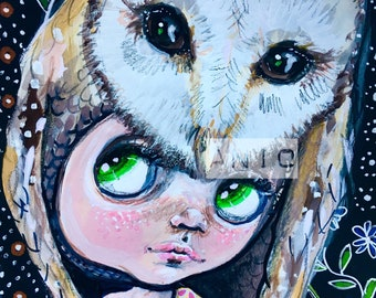 Owl thoughts Original art by aniO