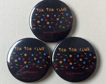 "Tom Tom Club ""Wordy Rappinghood"" Pinback Button"