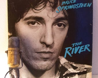 """Bruce Springsteen Record LP """"The River"""" (Loaded Original 1980 CBS Records with photo inner sleeves and lyric insert, """"Hungry Heart"""")"""