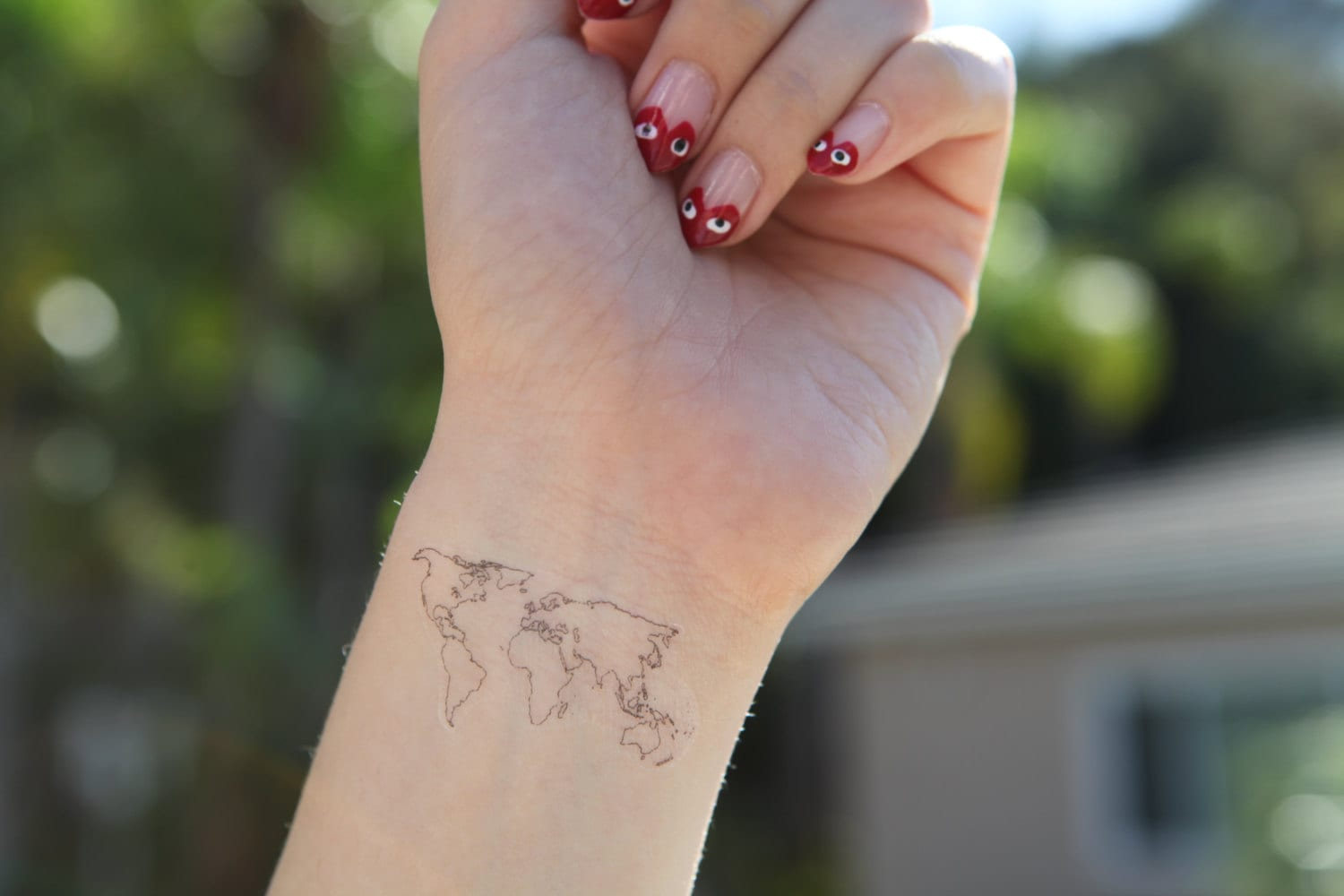 World map medium spirit ink temporary tattoos zoom gumiabroncs Image collections