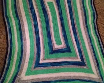 Neon Spring Baby Blanket
