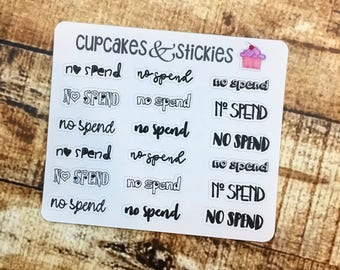 No spend hand lettered stickers