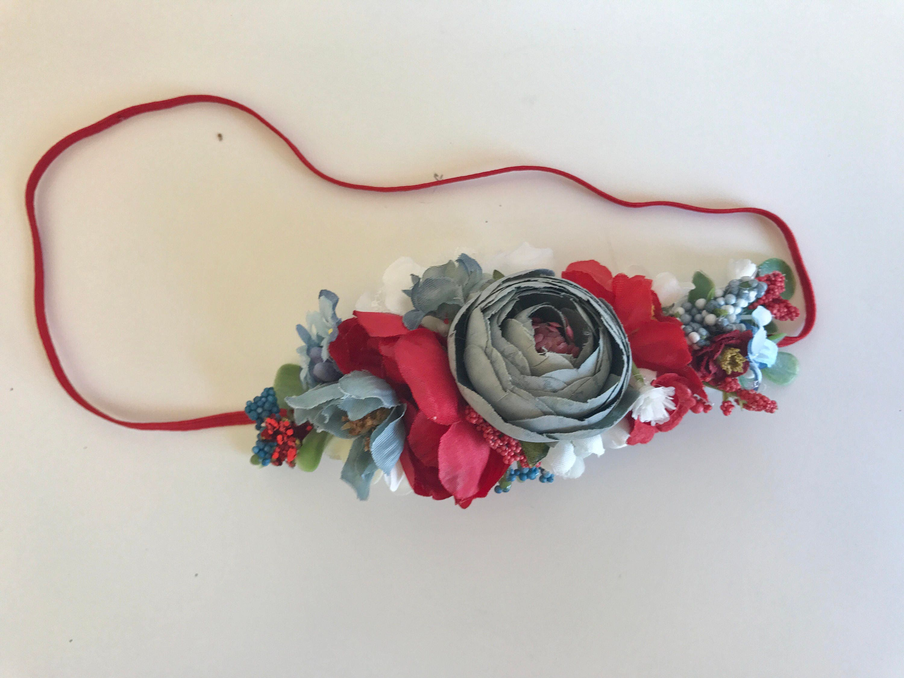 Unusual red white and blue flower crown gallery wedding and red white blue flower crown well dressed wolf floral izmirmasajfo Gallery