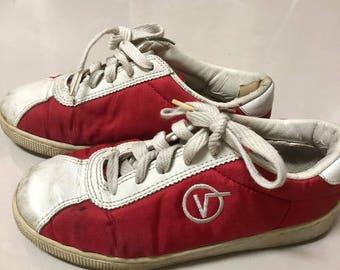 Vintage Vans Lucy red shoes bowling shoes made in korea
