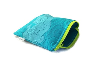 Mermaid Snack Bags    Reusable Sandwich Bags    Reusable Snack bags    Eco Friendly Gift    Zippered Pouch    Food Safe Bag