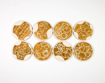 Doctor Who Gallifreyan Coasters (Set of 8)