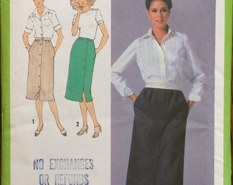 Vintage Simplicity 9001 sewing pattern Misses' Skirts