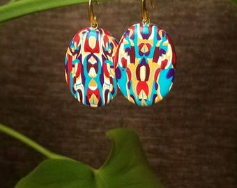 NOUVEAU-1, Handmade Earrings, PolymerClay Jewelry,  Statement fashion earrings, Gifts for her
