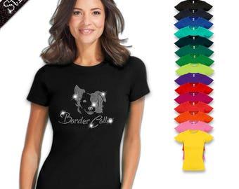 Women's T-Shirt Strass Border Collie M2