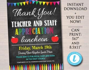 teacher appreciation invitation