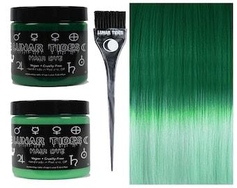 DIY Ombre Green Hair Dye Kit