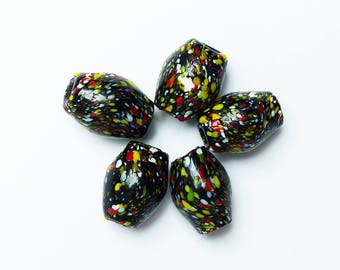 glass beads * multicolored pattern * 2.2 or 1.7 cm size
