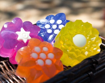 Flower Soap Set - Glycerin and Shea Butter Soap // Gifts for Her