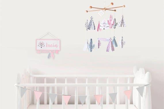 MÓVIL cuna bebé rosa móvil TIPIS CACTUS móvil cuna bebé