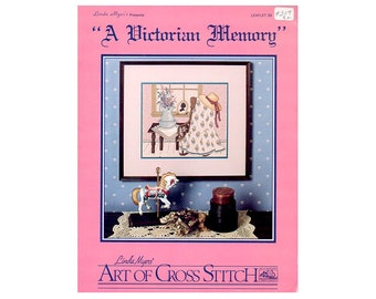 A Victorian Memory Cross Stitch Leaflet, Floral Cross Stitch, Quilt Cross Stitch, Flowers Cross Stitch, Victorian Cross Stitch