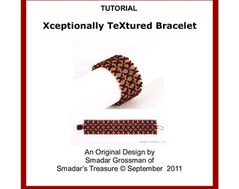 Beading Tutorial Pattern, Xceptionally TeXtured Bracelet. Beading Pattern with Lentil and Seed Beads. Beadweaving Instructions, Beadwork