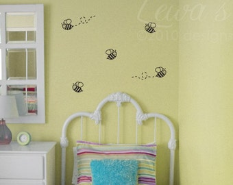 Bumble Bee Wall Decals (Set of 5)