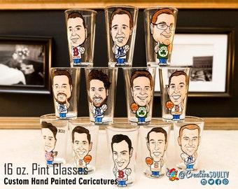 Groomsmen Pints, Beer Pints, Groomsman, Bestman Gift, Pint Glasses, Vintage Pints, Personalized Gifts, Custom Pints, Sports, Golf
