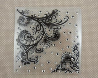 Stamp clear floral embellishments