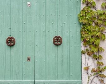 "Saignon, France ""portes vertes"" - Fine art photography, travel photography, home decor"