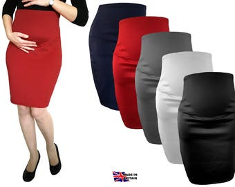 Maternity Pregnancy Pencil Skirt