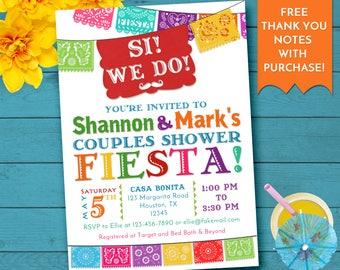 Fiesta Couples Shower Invitation, Fiesta Bridal Shower, Mexican Fiesta Invitation