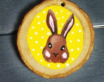 Brown bunny woodslice