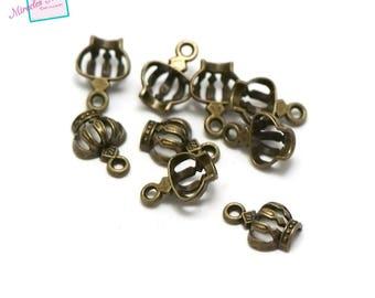 "charms 20 ""wreath"" 12 x 9 x 4 mm, 071 bronze"