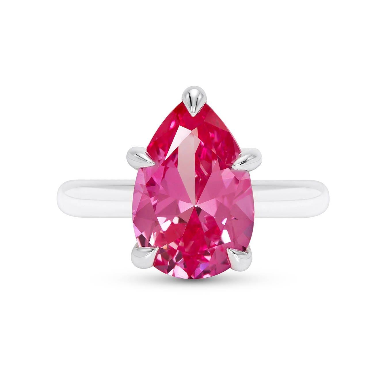 Pink Sapphire Ring Pear Cut Sapphire Ring Pear Cut