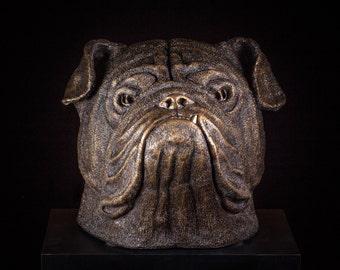 100% Hot Cast Bronze English Bulldog Sculpture Dog Dogs Yale Georgia Mascot Highest Bronze Quality Canine Display