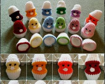 Crochet Chicks in their Egg Shells