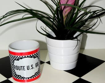 White ceramic mug route 66 Highway 66, coffee, tea, coffee mug, Tea Cup, mug