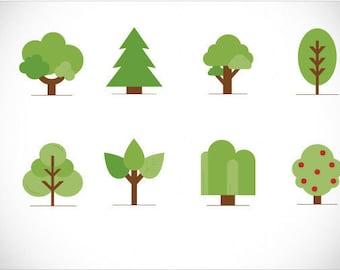 Trees PACK-SVG-EPS-bundle-stickers-logo-hd-printable