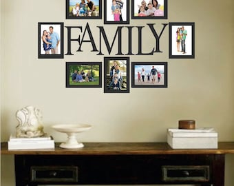 Family Picture Frame Wall Decal, Photo Wall Decal, Removable Family Decal, Living  Room