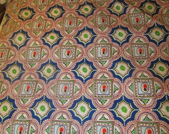 9 yards MCM hand screen print fabric by Vice Versa by Seymour Avigdor 1969