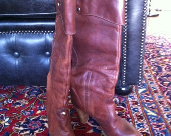 Gorgeous cuffed boots fawn colour size 38 or 7