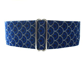 Blue Martingale Dog Collar, 2 inch Martingale Collar, Greyhound Collar, Blue Dog Collar, Wide Dog Collar, 2 Inch Dog Collar Large Dog Collar