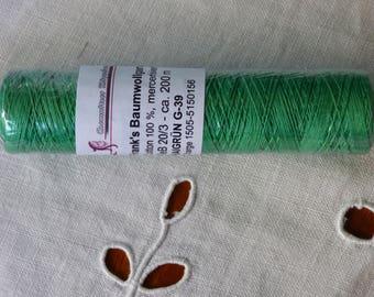 Frank's 20 cotton yarn / 3 collar Maigrün 39 G