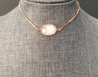 Mother of the groom Mother of the bride clear quartz necklace Soul sister in law healing solitaire necklace for daughter in law gift MIL