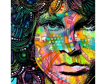 Jim Morrison Doors Dean Russo Pop Art Wall Decal - #55428