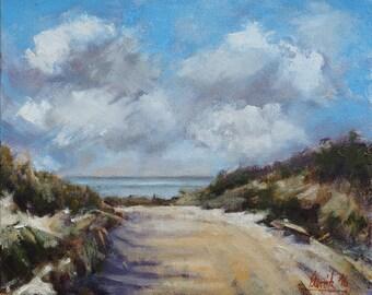 Sand Dunes - landscape, oil, painting, fine Art