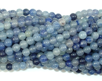 Blue Aventurine, 4mm (4.4 mm) Round Beads, 15 Inch, Full strand, Approx 90 beads, Hole 0.8 mm (151054004)