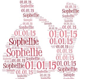 Proposal engagement Word Art Personalised Gift. Free P&P