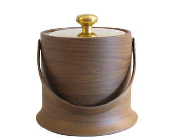 Vintage Kraftware Wood-Look Ice Bucket