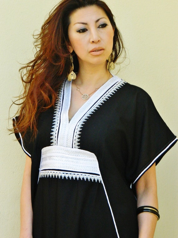Black Marine Resort Caftan Kaftan -Ramadan, Eid, wedding, resortwear,loungewear, maxi dresses, birthdays, honeymoon, maternity gifts