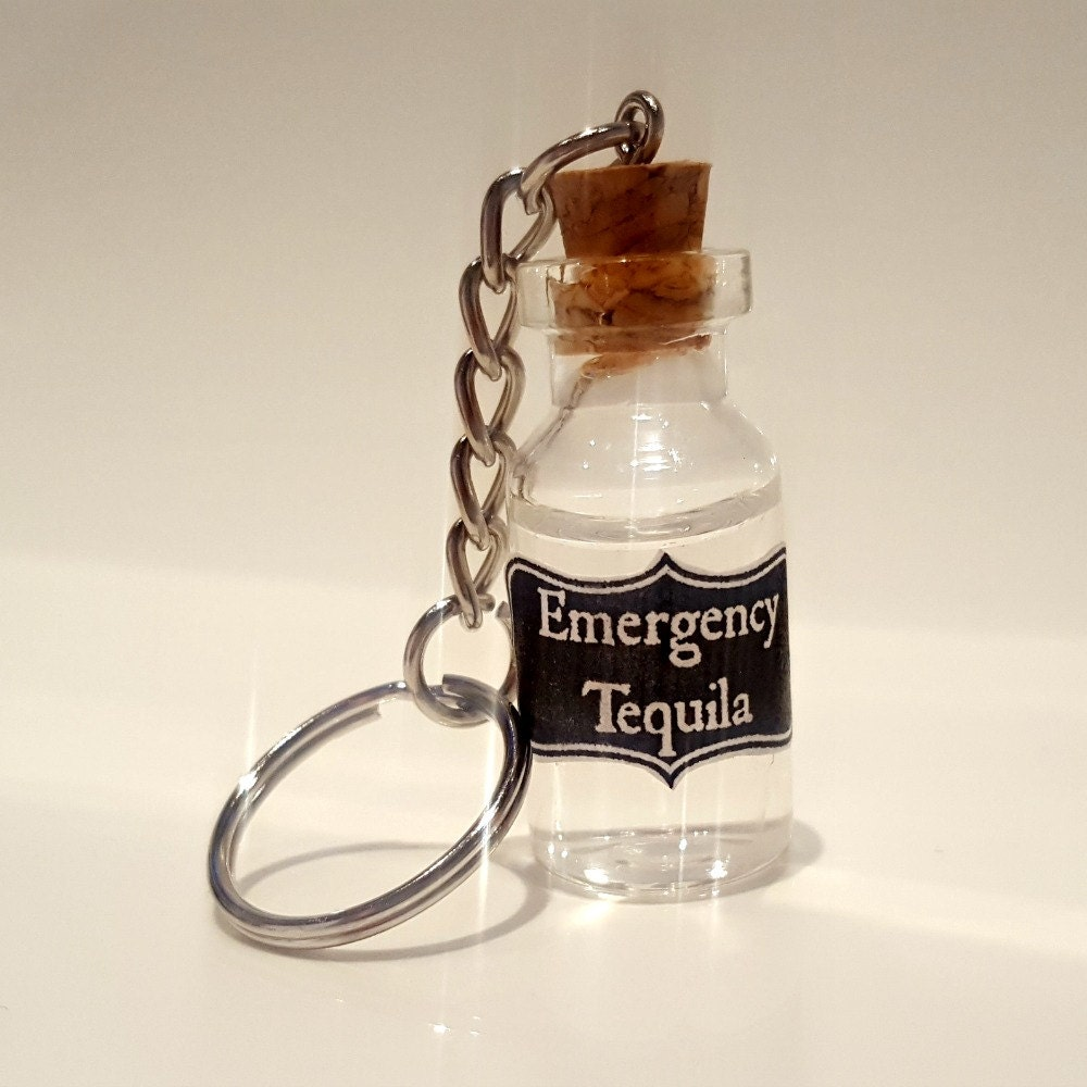 Emergency Tequila Keyring Tequila Gifts Tequila Lover
