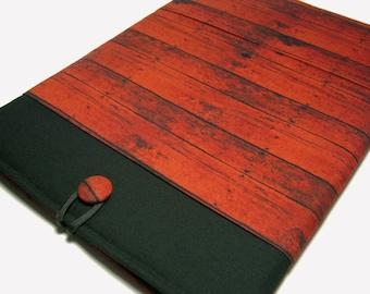 Macbook Pro Sleeve, Macbook Pro Case, 15 inch Macbook Pro Cover, 15 inch Macbook Pro Case, Laptop Sleeve, Red Wood