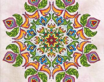 The Tulip Garden Cross Stitch Chart